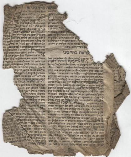 Jiddischer Kommentar zu Haftarot (aus Mahzor oder Minhag-Buch)(Nizi_Biko_1)