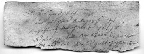 Gebetbuchinnenseite, Fragment, Herman Feit, 27. Dezember 1830 , 17,7 X 6,6 cm (Nizi_Inn_5)