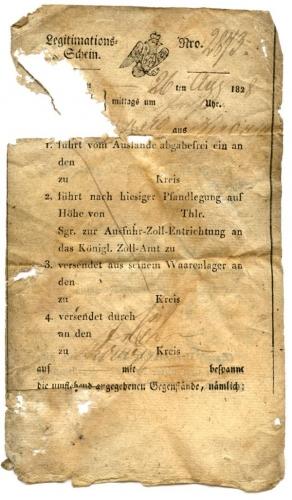 Legitimationsschein, 26. August 1828 (Nizi_Leg_3)